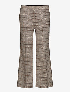 Dylan Cropped Trousers - BEIGE CHECK