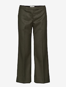 Dylan Cropped Trousers - FOREST GREEN