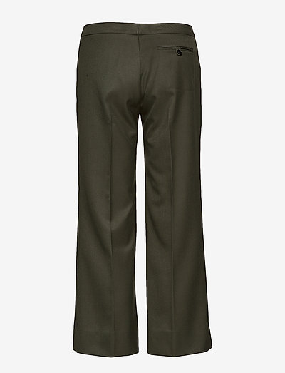 Mayla Stockholm Dylan Cropped Trousers- Spodnie Forest Green