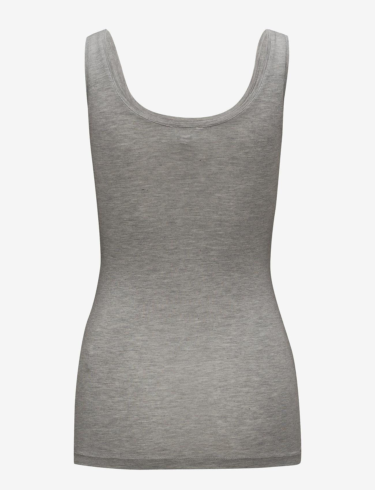 mbyM - Sina - sleeveless tops - light grey melange - 1