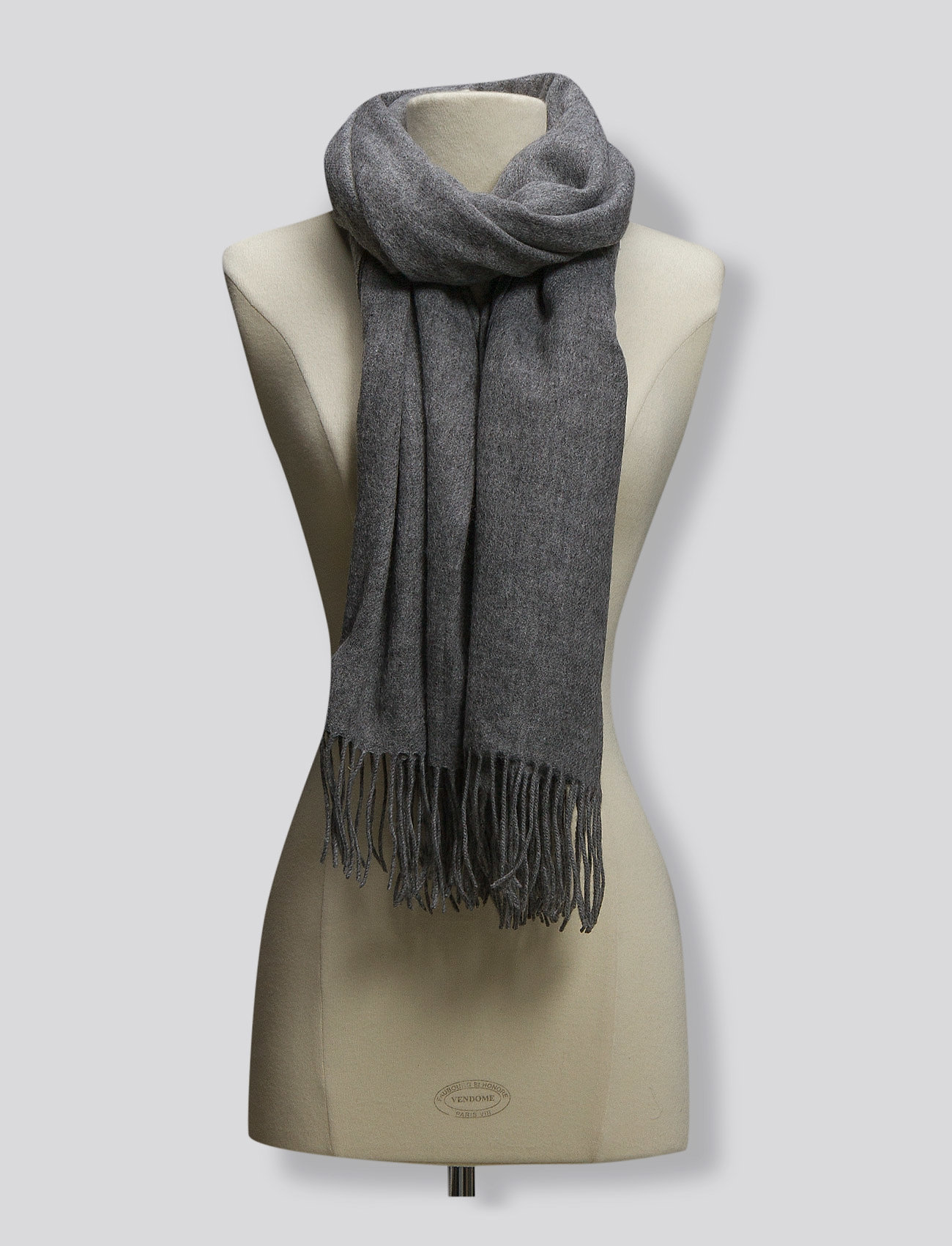 mbyM - Stacy - winter scarves - light grey melange - 1