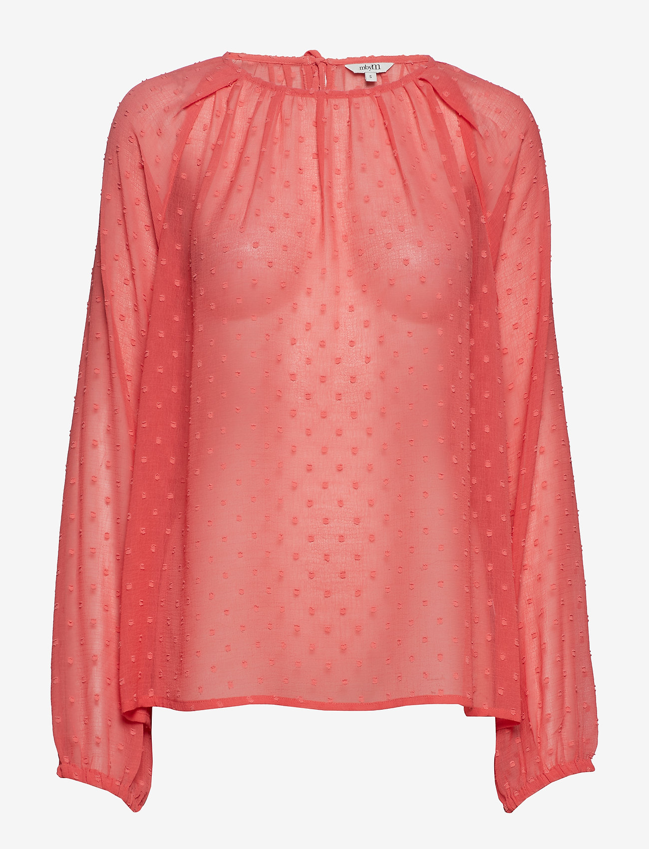 mbyM - Dacey - long sleeved blouses - calypso coral - 0