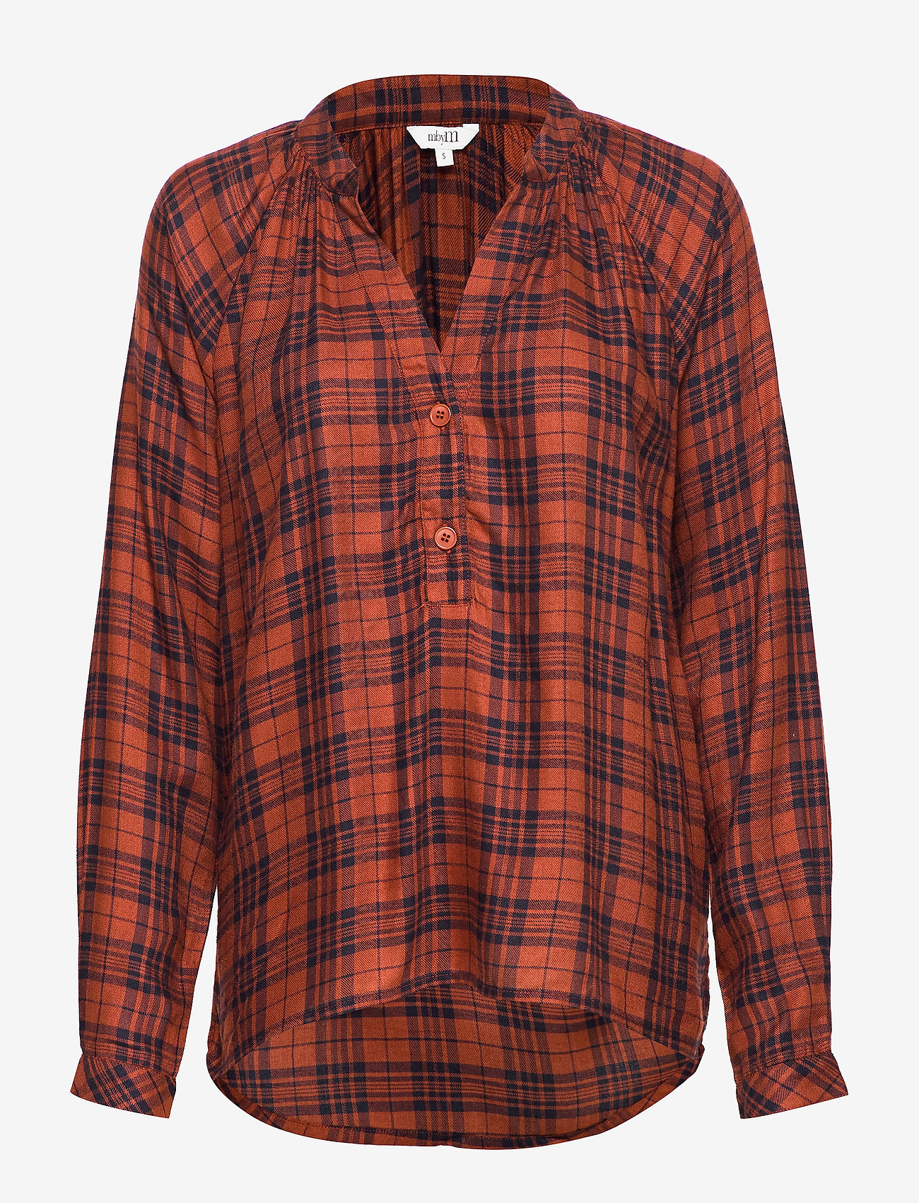 mbyM - Sirin - long sleeved blouses - brown shadow check - 0