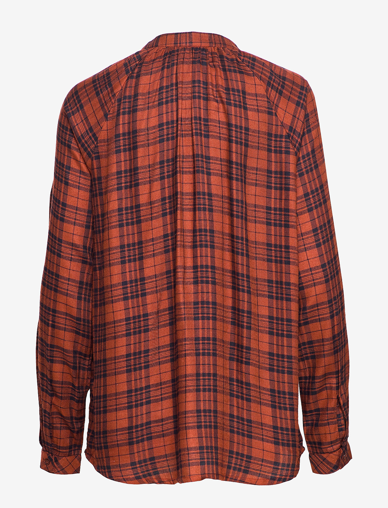 mbyM - Sirin - long sleeved blouses - brown shadow check - 1