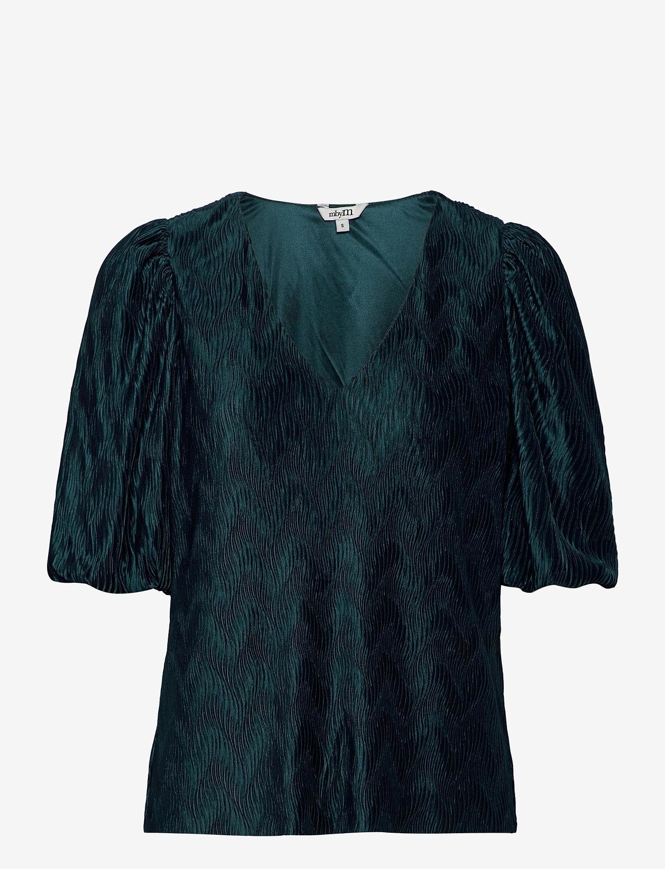mbyM - Abela - short-sleeved blouses - atlantic deep - 0