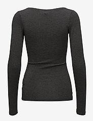 mbyM - Anna - pitkähihaiset t-paidat - dark grey melange - 1