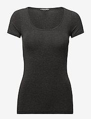 mbyM - Siliana - t-shirts basic - dark grey melange - 0