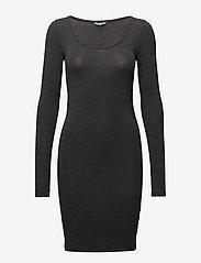 mbyM - Hanna - midi dresses - dark grey melange - 0