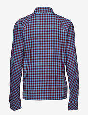 mbyM - Babara - long sleeved blouses - bonnie blue red check - 1