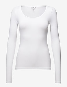 Anna - long-sleeved tops - optical white