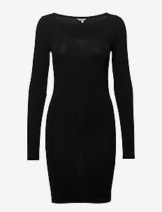Hanna - midi dresses - black