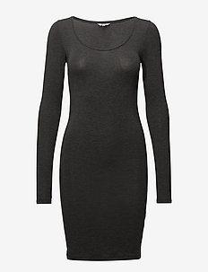 Hanna - midi dresses - dark grey melange