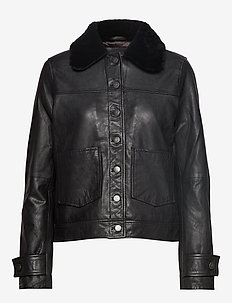 Billion - leather jackets - black