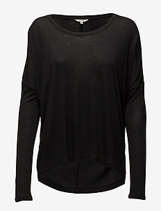 Petrol - long sleeved blouses - black