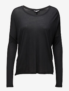 Petrol - long sleeved blouses - phantom grey