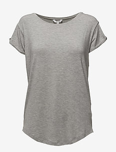 Nisha - t-shirts - light grey melange