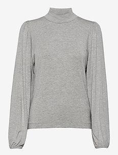 Tanna - langærmede toppe - light grey melange