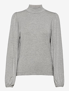Tanna - turtlenecks - light grey melange