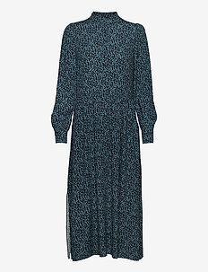 Shazzer - sukienki do kolan i midi - cassius blue print