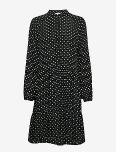 Marranie - shirt dresses - night charlock dot print
