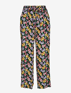 Amie - wide leg trousers - kinsley print