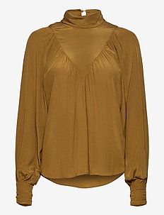 Lasia - long sleeved blouses - breen