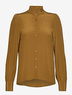Vilora - long sleeved blouses - breen