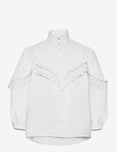 Romanova - long sleeved blouses - white