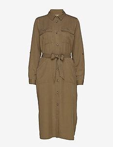 Eleena Long Sleeve - shirt dresses - military olive