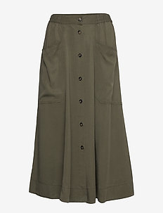 Karole - midi kjolar - green leaf