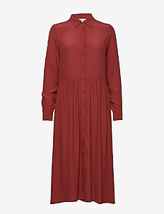 Ellia - shirt dresses - russet brown