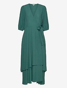 Bibbi - wrap dresses - mallard green