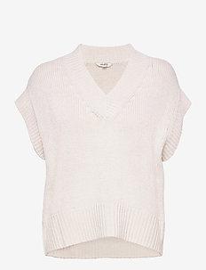 Katya - knitted vests - sugar