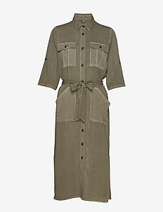 Eleena - shirt dresses - military olive