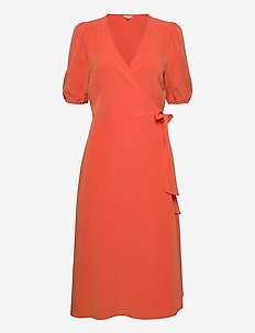 Angelo - wrap dresses - tomato