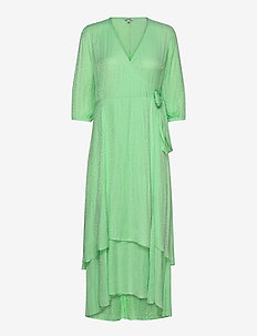 Bibbi - wrap dresses - patina green