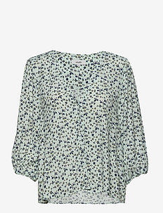 Brandee - bluzki dlugim rekawem - fiorella print