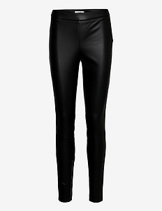 Body - læderbukser - black