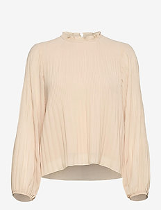 Alie - long sleeved blouses - pale peach
