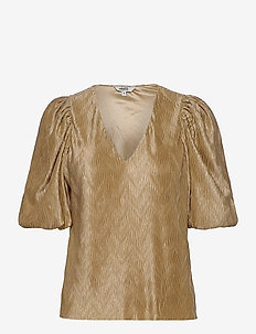 Abela - short-sleeved blouses - oyster