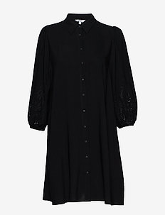 Deon - shirt dresses - black