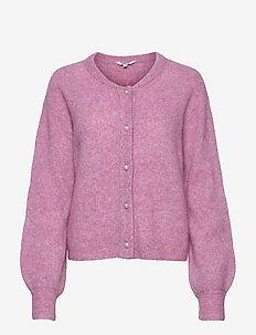 Mantanna - cardigans - rose violet melange