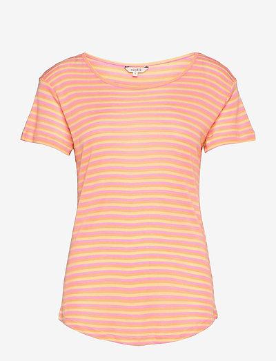 Lucianna - t-shirts - butter pink peach stripe