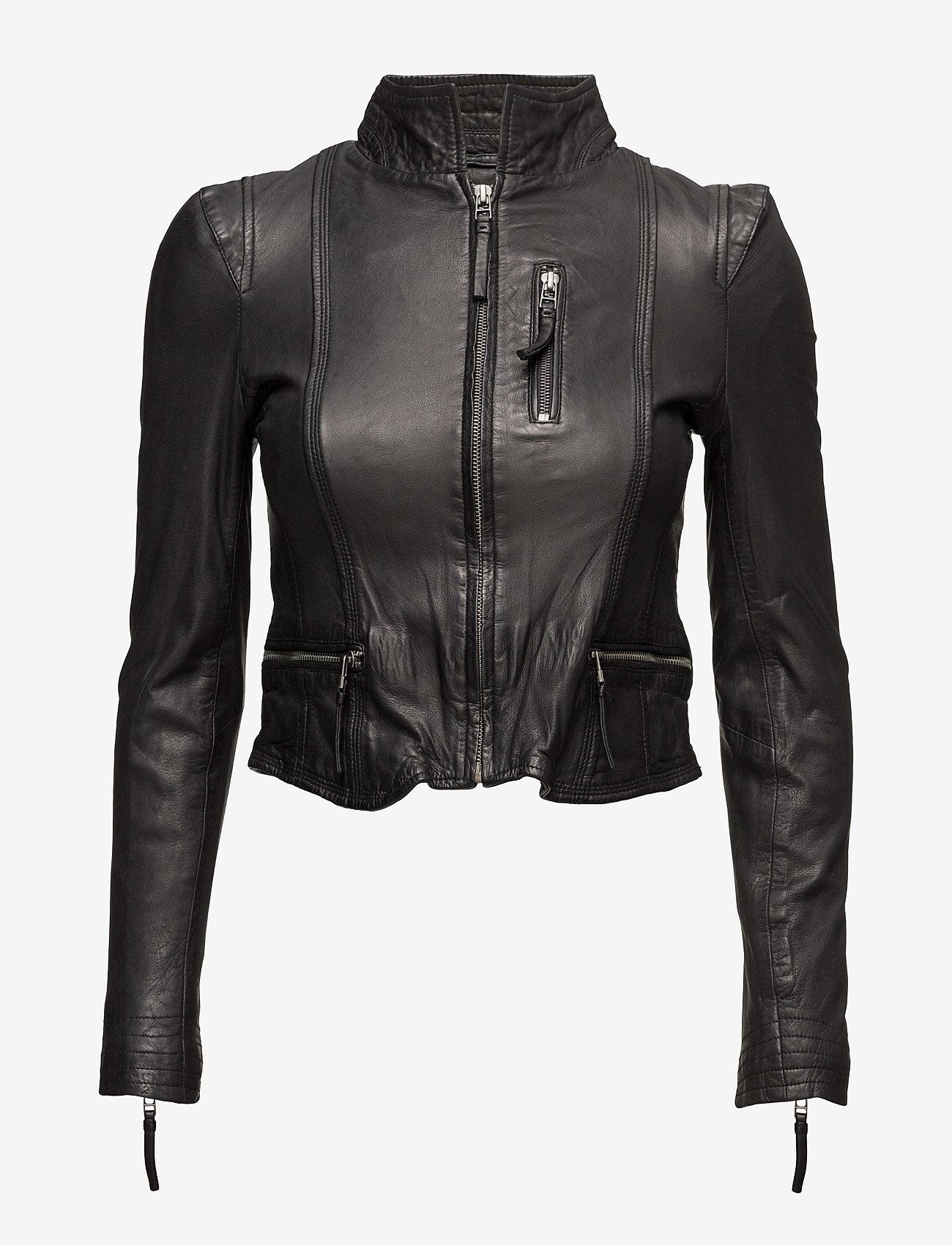 MDK / Munderingskompagniet - Rucy Leather Jacket - black - 0