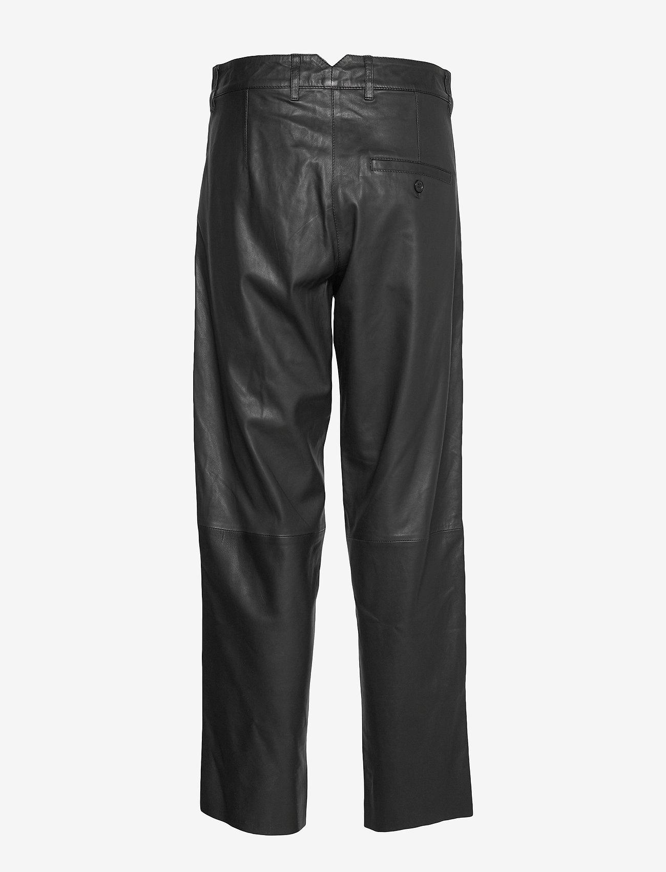 MDK / Munderingskompagniet - Iris leather pants - skinnbyxor - black - 1