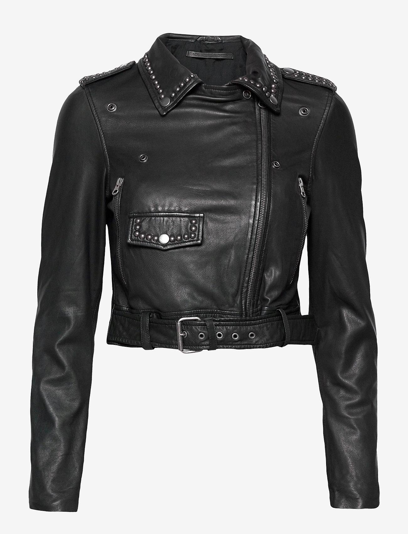 MDK / Munderingskompagniet - Aia leather jacket - skinnjackor - black - 0
