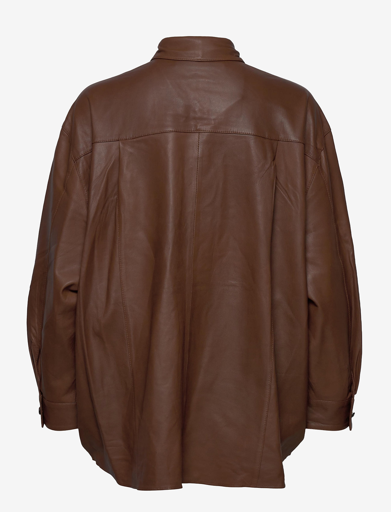 MDK / Munderingskompagniet - Agnes thin leather shirt - overshirts - monks robe - 1