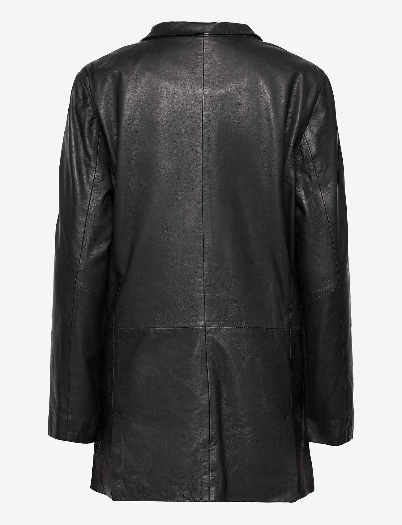MDK / Munderingskompagniet - Coco thin leather blazer - vardagskavajer - black - 1