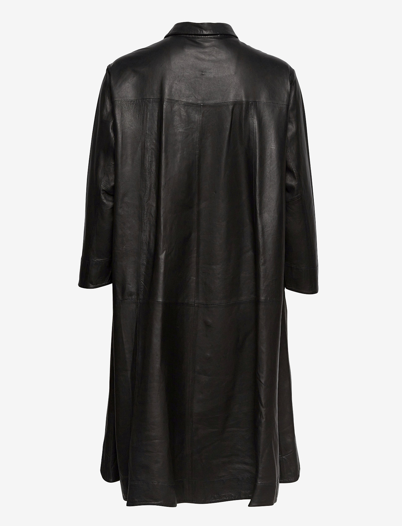 MDK / Munderingskompagniet - Chili thin leather dress - korta klänningar - black - 1