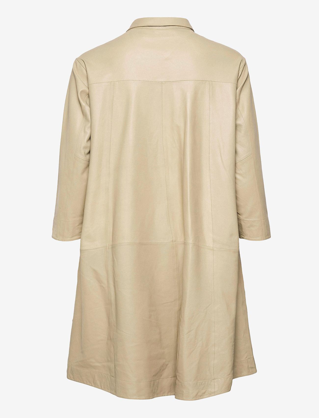 MDK / Munderingskompagniet - Chili thin leather dress - korta klänningar - pale khaki - 1
